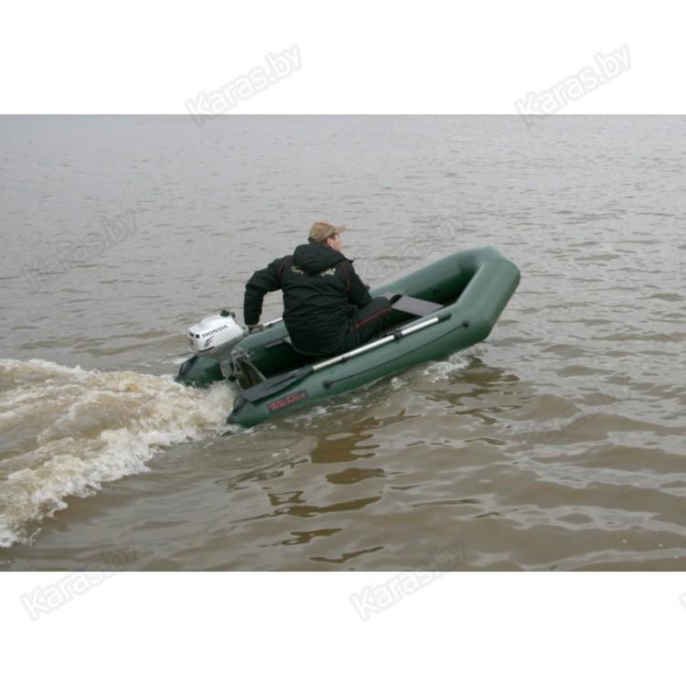 лодка пвх тайга-290 под мотор 5 л.с цв серый